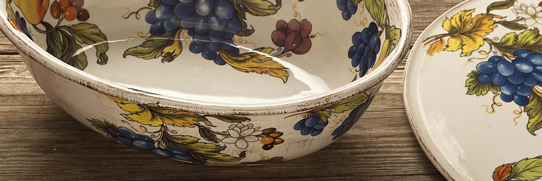 Produzione ceramica da tavola decorata a mano