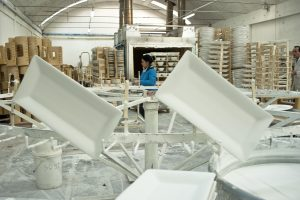 handcrafted ceramic production